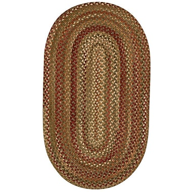 Capel Manchester Sage Red Hues Area Rug; Oval 4' x 6'