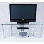 Tier One Designs 61'' TV Stand; Clear Glass