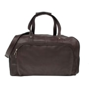 Piel Traveler Deluxe 17'' Leather Carry-On Duffel; Chocolate