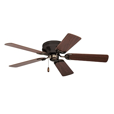 Emerson Fans 42'' Contemporary Snugger 5 Blade Fan; Oil Rubbed Bronze w/Cherry/Medium Oak Blades