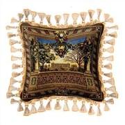 Fine Art Tapestries Le Chateau de Monceau Throw Pillow