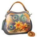 Anuschka Peacock Lily Shopper Tote Bag