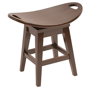 Carolina Accents Thoroughbred 20.38'' Swivel Bar Stool; Espresso