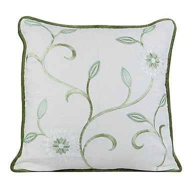 Gracious Living Bedazzle Throw Pillow; Ivory