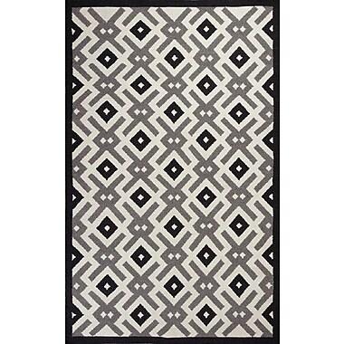 KAS Rugs Solstice Black/White Diamonds Area Rug; 8' x 10'