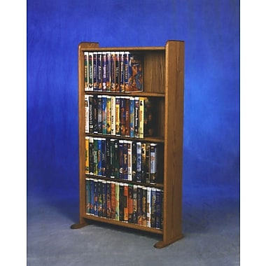 Wood Shed 400 Series 160 DVD Multimedia Storage Rack; Natural