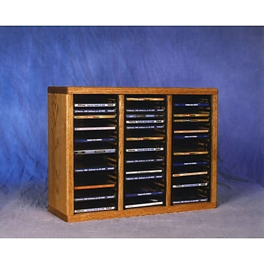 Wood Shed 300 Series 60 CD Multimedia Tabletop Storage Rack; Natural