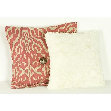 Cotton Tale Raspberry Dot Cotton Throw Pillow (Set of 2)