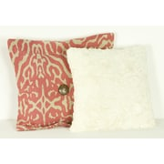Cotton Tale Raspberry Dot  Cotton Throw Pillow (Set of 2)