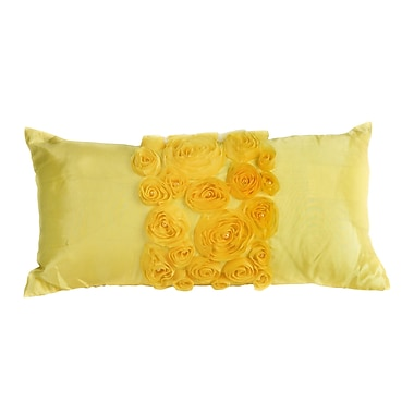 Debage Inc. Spring Flower Lumbar Pillow; Yellow