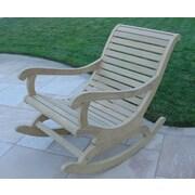 Royal Teak Roble Wood Rocking Chair