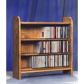Wood Shed 300 Series 165 CD Multimedia Tabletop Storage Rack; Dark
