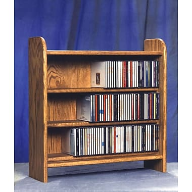 Wood Shed 300 Series 165 CD Multimedia Tabletop Storage Rack; Unfinished