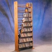 Wood Shed Deluxe 504 CD Multimedia Storage Rack; Natural