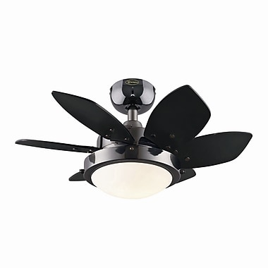 Westinghouse Lighting 24'' Quince 6 Blade Fan; Gun Metal with Black/Graphite Blades