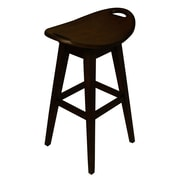 Carolina Accents Thoroughbred 30'' Swivel Bar Stool; Espresso