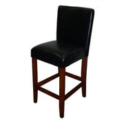 4D Concepts Deluxe 27.5'' Bar Stool with Cushion; Black