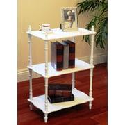 Mega Home Rectangular 3-Tier Shelf; White