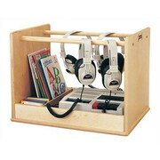 Jonti-Craft Audio Caddie Multimedia Tabletop Storage Rack
