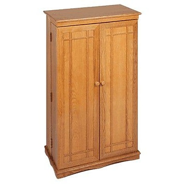 Leslie Dame 612 Series Multimedia Cabinet; Oak