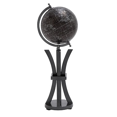 Woodland Imports Elegant Wood and Metal Globe