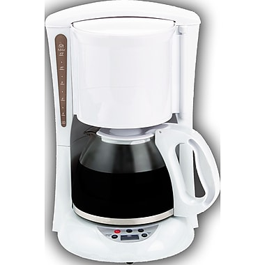 Brentwood Digital Coffee Maker; White