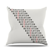 KESS InHouse Revolution Throw Pillow; 18'' H x 18'' W