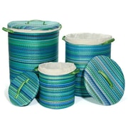 Fab Rugs World Cancun Basket (Set of 3); Tuquoise / Moss Green
