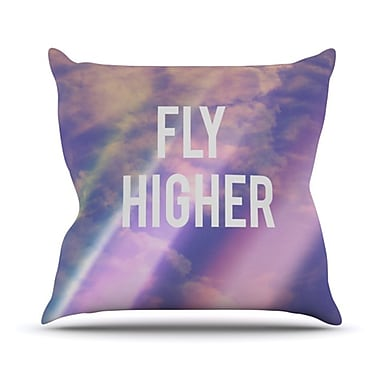 KESS InHouse Fly Higher Throw Pillow; 18'' H x 18'' W