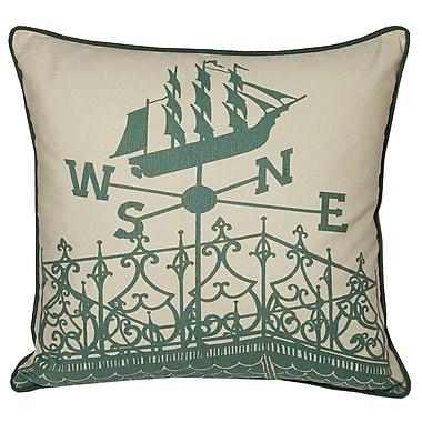 Kevin O'Brien Studio Nauticals Widow's Walk Throw Pillow; South Pacific