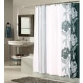 Carnation Home Fashions ''Chelsea'' Polyester Shower Curtain; Black / White