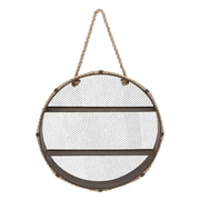 Woodland Imports Unique Metal Wall Rope Round Shelf