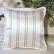 Brandee Danielle Ash Striped Throw Pillow; Lemon