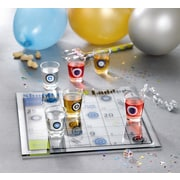 Fifth Avenue Crystal Game Night 9 Piece Drinking Shoot and Ladder Game Set