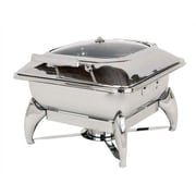 Buffet Enhancements New Age Large Square Chafing Dish with Glass Lid