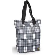 J World Tote Bag; Tartan Grey