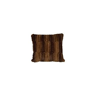 Wooded River Beaver Throw Pillow