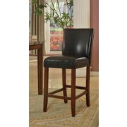 HomePop Kinfine 24'' Bar Stool with Cushion; Black