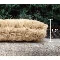 Entryways Handwoven Extra Thick Blank Coconut Fiber Doormat; 18'' x 47''