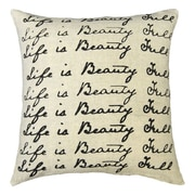 Sugarboo Designs Life is Beauty Full Linen Throw Pillow