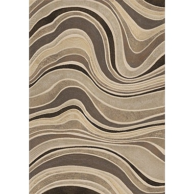 Dynamic Rugs Eclipse Gray Wave Area Rug; 5'3'' x 7'7''