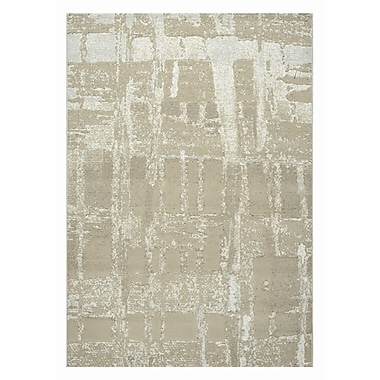 Dynamic Rugs Mysterio Light Beige Area Rug; 5'3'' x 7'7''