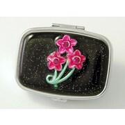 Budd Leather Secret Garden Rectangular Pill Box; Secret Garden