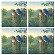 McGowan Tuftop Country Morning Bluebirds Coasters (Set of 4)