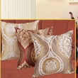 Violet Linen Milano Arts Jacquard Decorative Cushion Cover; Brown