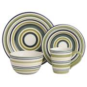 TAG Sonoma 16 Piece Dinnerware Set; Celadon Stripe