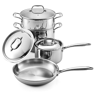 Cooks Standard Multi-Ply Clad Stainless Steel 7-Piece Cookware Set