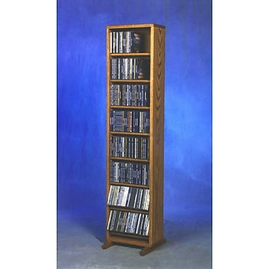 Wood Shed 800 Series 208 CD Dowel Multimedia Storage Rack; Natural