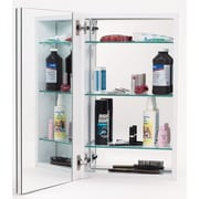 Alno 15'' x 25'' Recessed Medicine Cabinet; Stainless Steel
