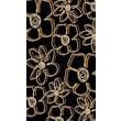 Radici Vesuvio Series II Black/Gold Rug; 3'3'' x 4'11''
